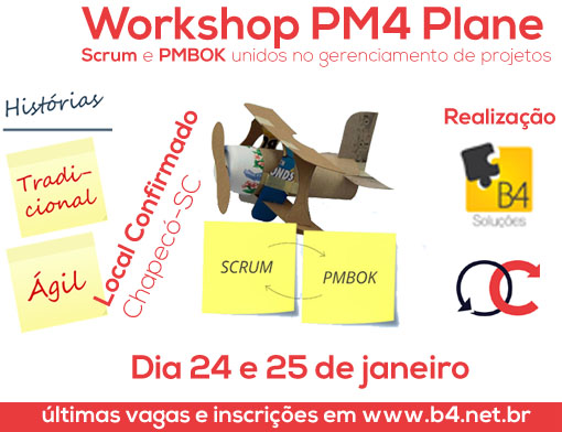 Confirmado Workshop Scrum + PMBOK em Chapecó