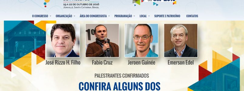 Palestra Magistral no CIIP 2016 em Joinville – 21/10 as 14hs